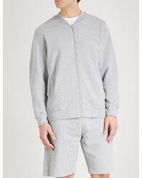 Sunspel Loopback Cotton-jersey Bomber Jacket - Metallic