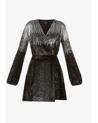 Pinko Germano Sequin-embellished Mini Dress - Black