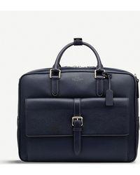 Smythson Burlington Large Briefcase - Blue