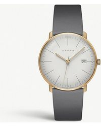 Junghans - 041/7857.00 Max Bill Stainless Steel And Leather Watch - Lyst