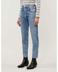 Agolde Jamie Classic High-rise Straight Jeans - Blue