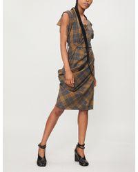 Vivienne Westwood Fond Checked Wool Dress - Grey