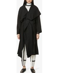Issey Miyake Belted Woven Coat - Black