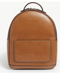 Brunello Cucinelli - Embellished Grained Leather Backpack - Lyst