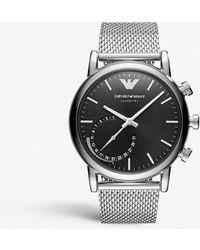 Emporio Armani - Art3007 Luigi Stainless Steel Hybrid Smartwatch - Lyst