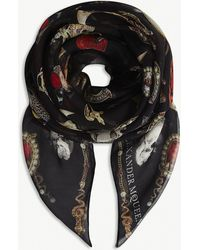 Alexander McQueen - Jewelled Trinkets Print Chiffon Silk Scarf - Lyst