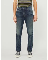 RRL Faded-wash Straight Stretch-jeans - Blue
