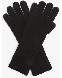 Vince Ribbed Cashmere Gloves - Black
