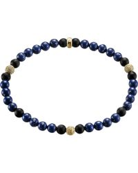 Thomas Sabo - Rebel At Heart Gold-plated Sterling Silver And Obsidian Beaded Bracelet - Lyst