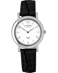 Links of London - Noble Slim Leather Strap Watch - Lyst