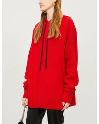 The Kooples - Oversize Wool-cashmere Hoody - Lyst