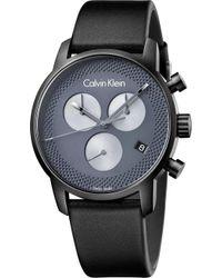 Calvin Klein - K2g177c3 City Black Ion-plated Stainless Steel Watch - Lyst