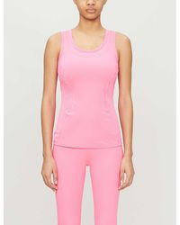 adidas By Stella McCartney Essentials Stretch-recycled Polyester Top - Pink
