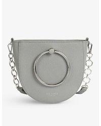 Ted Baker Nitza Leather Cross-body Bag - Gray