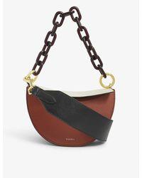 Yuzefi Doris Leather Shoulder Bag - Brown