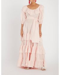 Lisa Marie Fernandez - Eugenie Striped Cotton Maxi Dress - Lyst