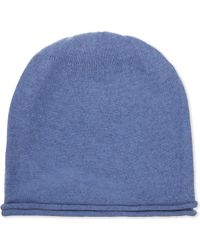 CASH CA - Ladies Beige Ribbed Traditional Cashmere Beanie - Lyst