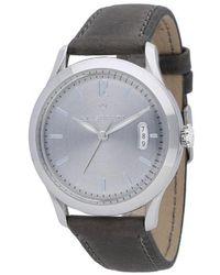 Maserati Grey Tradizione Quartz Leather Watch