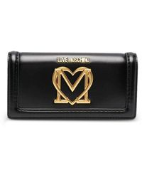 Love Moschino Plaque-logo Wallet - Black