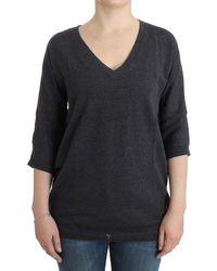 CoSTUME NATIONAL Grey Short Sleeved Jumper - Multicolour
