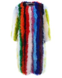 Dolce & Gabbana Multicolour Fur Coat