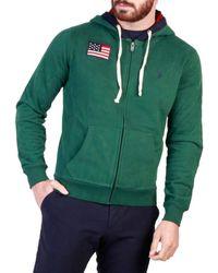 U.S. POLO ASSN. Emerald Green Zipped Hoodie