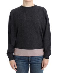 CoSTUME NATIONAL Grey Knitted Batwing Jumper - Multicolour