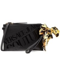 Versace Jeans Couture - Logo-embellished Clutch Bag - Lyst