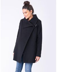 Seraphine Black Wool & Cashmere Maternity Coat