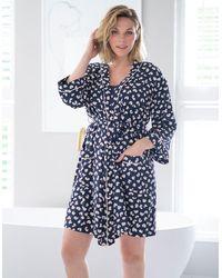 Seraphine Maternity Robe Kimono - Blue