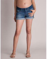 Seraphine Maternity Denim Shorts - Blue