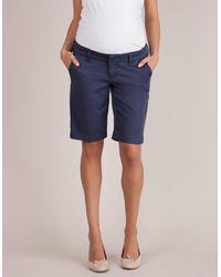 Seraphine Navy Blue Maternity City Shorts