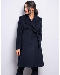 Seraphine Wool Navy Blue Maternity Coat