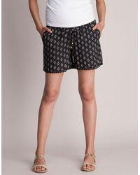 Seraphine Woven Printed Maternity Shorts - Multicolor