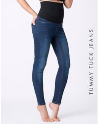 Seraphine Post Maternity Shaping Jeans - Blue