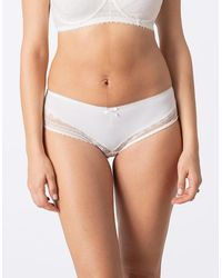 Seraphine Ivory Lace Maternity Panties - White