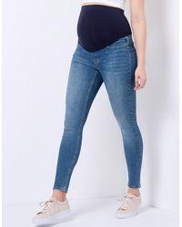 Seraphine Over Bump Super-skinny Maternity Jeans - Blue