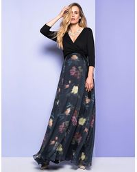 Seraphine Floral Wrap Maternity & Nursing Maxi Dress - Multicolor