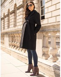 Seraphine - Black Wool Maternity Coat - Lyst