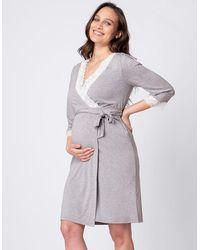 Seraphine Soft Modal Maternity Robe - Gray
