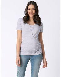 Seraphine Gray Marl Basic Maternity T-shirt