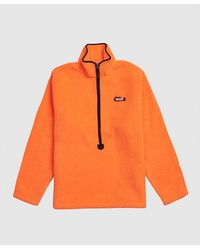 ADER error Orange Half-zip Sweatshirt