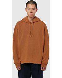Acne Studios Fagen Stamp Hooded Sweatshirt - Brown