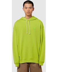 Acne Studios Farrin Face Hooded Sweatshirt - Green