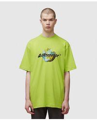 ADER error Earth Graphics T-shirt - Green