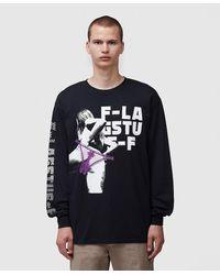 Flagstuff Back Long Sleeve T-shirt - Black