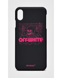 Off-White c/o Virgil Abloh Skulls Iphone Xs Cover - Black