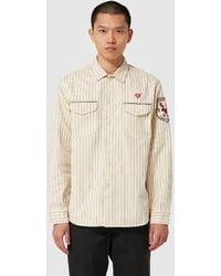 Human Made Stripe Curry Up Work Shirt - White