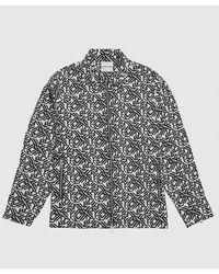 MKI Miyuki-Zoku Geo Tapestry Rider Jacket - Black