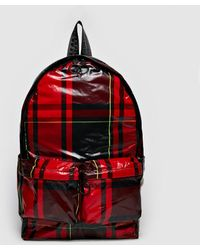Off-White c/o Virgil Abloh - Red Check Backpack - Lyst